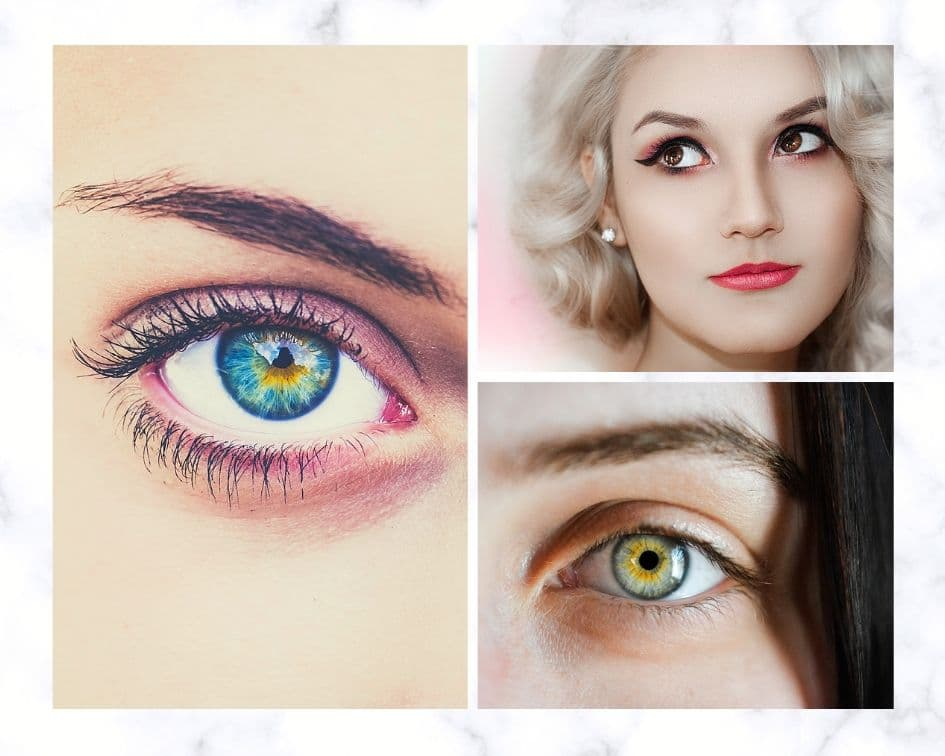 different women's Eyebrows